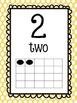 Pastel Polka Dot Number Posters 1-20