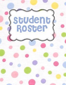 Pastel Polka Dot Teacher Binder