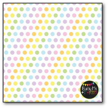 Pastel Polka Dots Digital Papers {Commercial Use Digital Graphics}