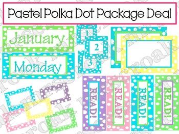 Package Deal: Pastel Polka Dots