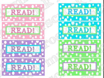 Bookmarks: pastel polka dots