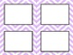 Pastel Purple Chevron Classroom Tags and Labels