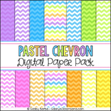 Pastel Rainbow Chevron Digital Paper Pack