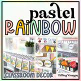 Pastel Rainbow Classroom Decor Bundle
