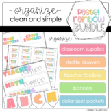Pastel Rainbow Organization Set