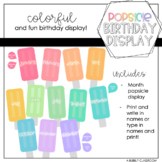 Pastel Rainbow Popsicle Birthday Display