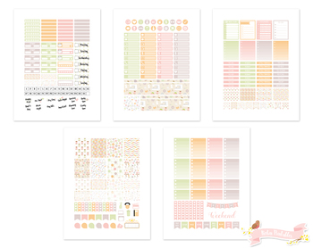 Pastel Sewing Printable Planner Weekly kit Stickers fits Erin Condren