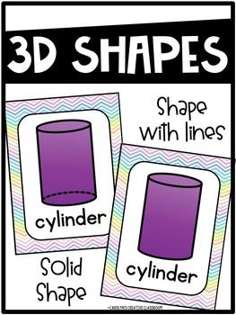 Pastel Shape Posters - Pastel Classroom Decor