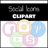 Pastel Social Icons Clipart