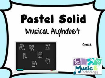 Solid Pastel- Musical Alphabet