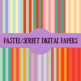Pastel/Sorbet Digital Papers Backgrounds