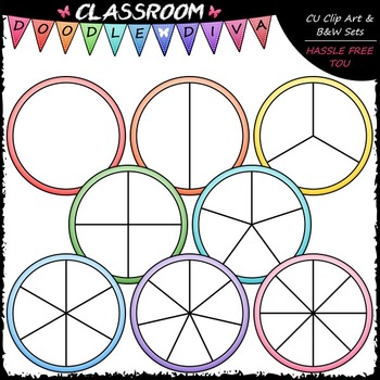 Pastel Spinners Clip Art (64 Colored) - Games Clip Art & B&W Set