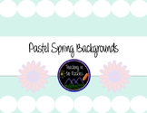 Pastel Spring Backgrounds - 10 Colors