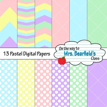 Pastel Spring Digital Papers
