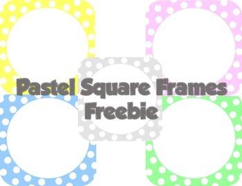 Pastel Square Frames Freebie