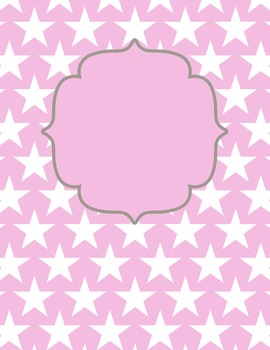 Pastel Star Digital Papers and Frames for Work Books, Cover Pages and Sellers