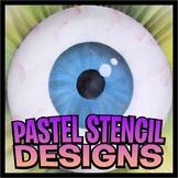 Pastel Stencil Design