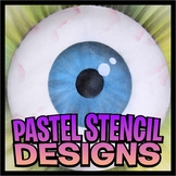 Pastel Stencil Design Art Project