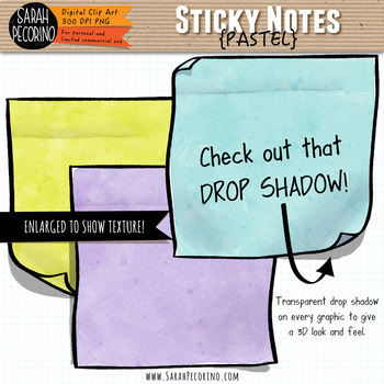 Pastel Sticky Notes Clip Art