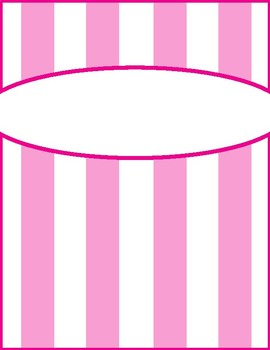 Pastel Striped Binder Covers and Spines