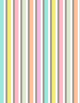 Pastel Striped Digital Papers and Frames for Work Books, Cover Pages & Sellers