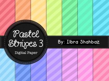 Pastel Stripes 3 Digital Paper Backgrounds