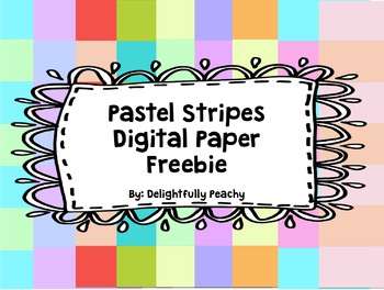 Pastel Stripes Digital Paper Freebie!!