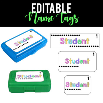 Pastel Student Name Tags
