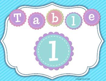 Pastel Table Labels Freebie