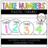 Pastel Table Numbers