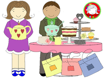 Pastel Tea Time Clipart (Personal & Commercial Use)