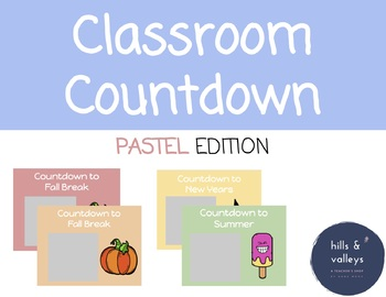 Pastel Theme Countdown