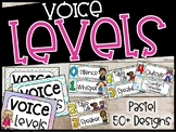 Pastel Theme Voice Level Poster and Cards - Pastel Classroom Theme