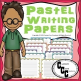 Pastel Themed Writing Papers