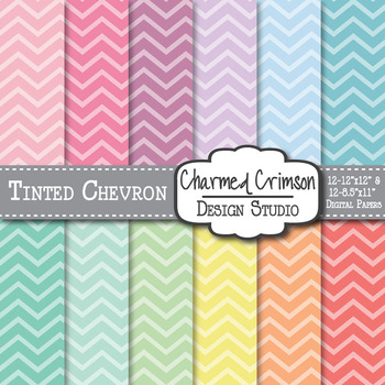 Pastel Tinted Chevron Digital Paper 1044