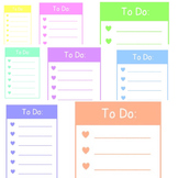 Pastel To Do List (Editable)