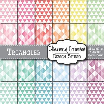 Pastel Triangle Digital Paper 1256