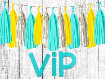 Pastel VIP Signs