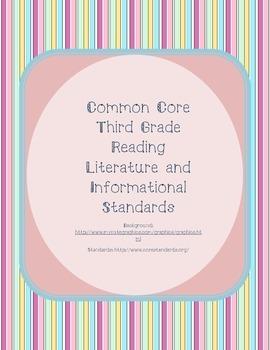 Pastel Vertical Striped Third Grade Reading Standards