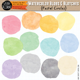 Pastel Watercolor Circles Clip Art