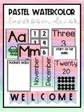 Pastel Watercolor Classroom Decor