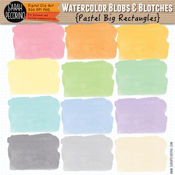 Pastel Watercolor Rectangles Clip Art