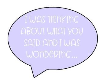 Pastel Watercolor Sentence Stems Conversation Starters