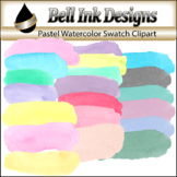 Pastel Watercolor Swatch Clipart