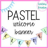 Welcome Banner: Pastel