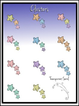 Pastel Whimsical Stars Clipart