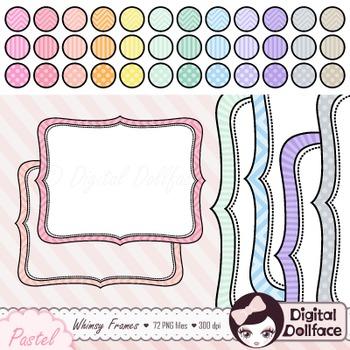 Pastel Whimsy Frames Bundle, Chevron, Stripe, Polka Dot Fr