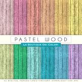Pastel Wood Digital Paper, scrapbook backgrounds