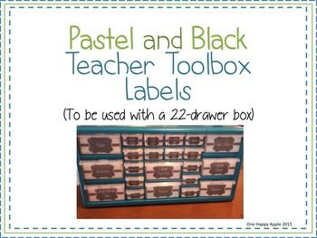 Pastel and Black Teacher Toolbox Labels