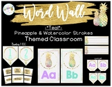 Pastel and Pineapples- Classroom Decor: Teal Word Wall Labels